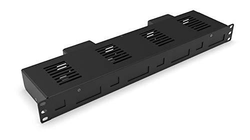 Raspberry Pi Rack Mount Pro Enclosed for 1-4 Raspberry Pi incl. 2 ventiladores PSU/4x.
