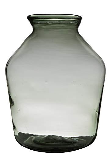 Vaas H40 D29 Handgemaakt Recycled Glas Oval