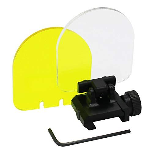 JCstarrie Tactical Scope Lens, Jagd Displayschutzfolie Umfang Faltbare Reflexlinse 20mm QD Montieren Für Red Dot Sight Scope Cover Kreis