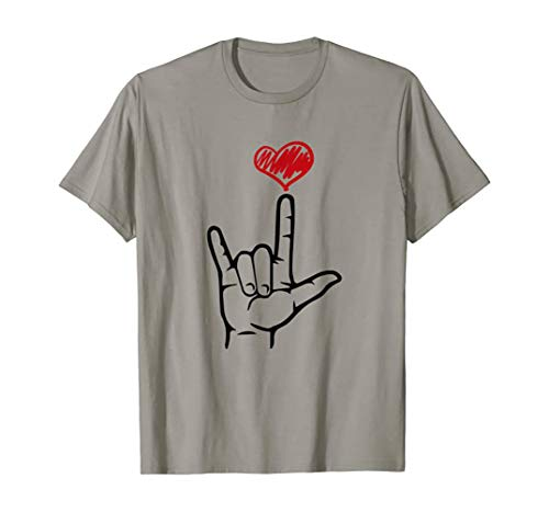 I Love You Hand Heart Sign Language Shirt Hand Sign Language Hand Talking Teachers Interpreter T Shirt: Charm Toddler Brush Teeth English - Talking Decal Mens America Sculpture White