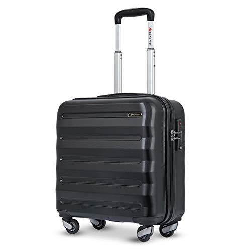 Koffer voor de kruiwagen – reiskoffer met kleine pc voor studenten, vliegassistent, universele fiets voor 17 inch (17 inch), blue (zwart) - NJ-123