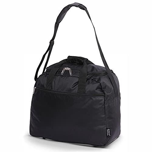 Aerolite 45x36x20 New and Improved 2021 easyJet Maximum Size Holdall Cabin Luggage Under Seat Flight Bag, Black