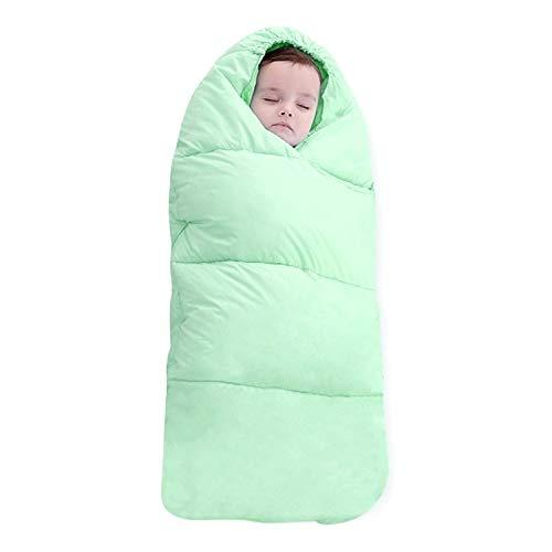 Baby slaapzak Baby slaapzak Verdikt Warm pasgeboren Quilt, Maat: 80 cm, voor 0-1 jaar oud (roze), Baby slaapzak Groen