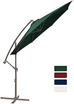 Hasle Outfitters Offset 10ft Cantilever Outdoor Market Hanging Umbrella
