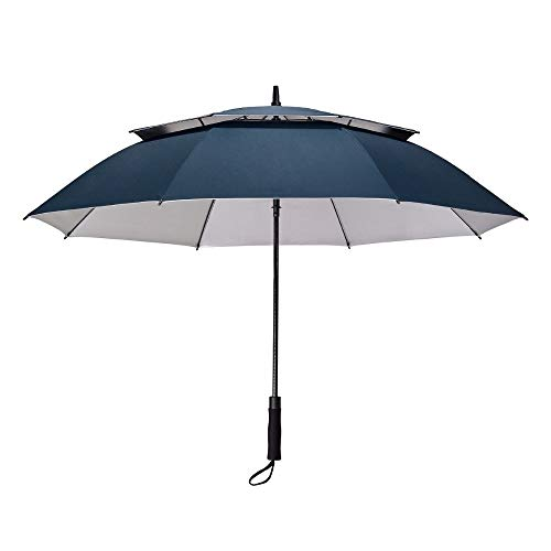 ZXF Umbrella 158cm Big Umbrella/Fashion Ultra Large Long-handle Umbrella Male Commercial Double Layer Automatic #### (Color : Blue)