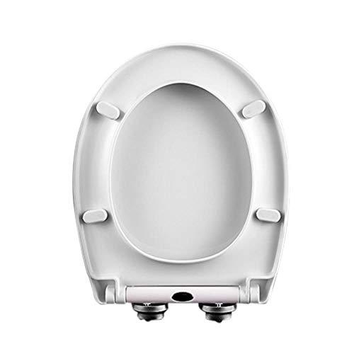 ZLEW Milchweißer Toilettendeckel Langsam schließender Toilettendeckel mit Deckel PP-Platte Nicht vergilbendes weiches Schließen Hochwertige Kratzfeste Toilettendeckel Toilette, wie Show, China