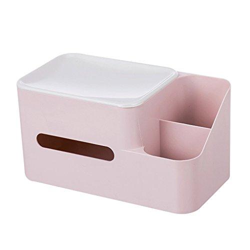 Cartones para embalaje Caja de almacenamiento Caja de pañuelos Caja de acabado Bandeja Servilleteros Mesa de café Caja de cartón de embalaje de escritorio (Color: Azul)