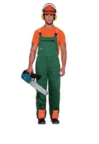 Arbeitsschutzanzug für Motorsäge, schützt vor Schnitten, Grün, Größe XL