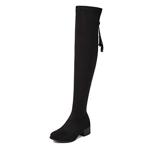 Sivellya Women's Knee High Boots Wide Calf Knee High Boot Tall Fashion Boot Wide Width Booties Black Size 11 (RY2020-005-Black-11)