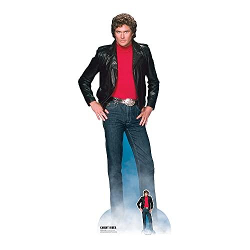 Star Cutouts SC1381 Michael David Hasselhoff Knight Rider Pappaufsteller in Lebensgröße, mit Mini-Aufsteller, perfekt für 80er-Jahre-Partys, Fans und Events, 190 cm hoch, Einheitsgröße