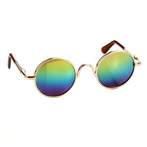 Goldyqin Modisches Design kleine Haustier Hunde Katzen Brillen Sonnenbrillen universal augenschutz Sommer pet Fotos Requisiten - blau & grün