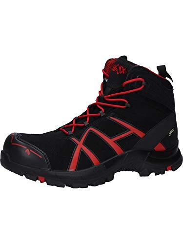 Haix Black Eagle Safety 40.1 mid/Black-red Praktische Arbeitskleidung: Sicherheitsschuhe für Handwerker. 47