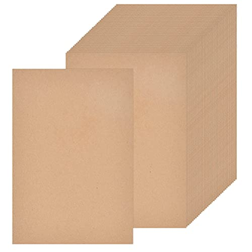 Tarjetas de Papel Kraft 100 Hojas Papel Kraft de Natural, Cartas Kraft Papel Marrón Cartón Kraft para Manualidades y DIY Papelería/Invitación/Postales/Origami