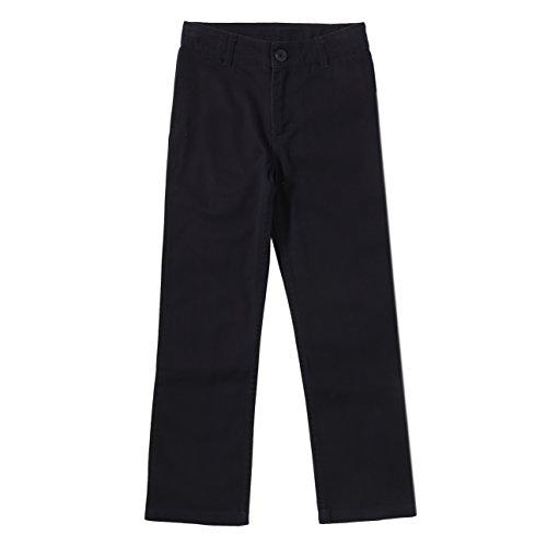 Bienzoe Jungen Baumwolle Einstellbare Taille Hosen Schwarz Größe 6