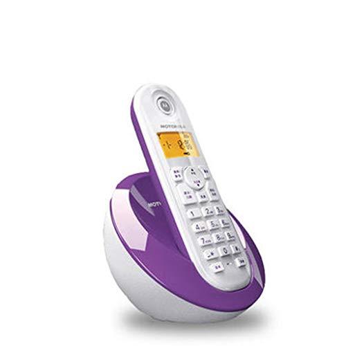 HQCC Teléfono inalámbrico Digital, teléfono Fijo, máquina única, para el hogar de la Oficina, Negro, púrpura (Color : Purple)