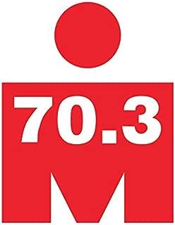CRDesign Triathlon 70.3 Ironman Bike Swim Run Marathons Decal Sticker for Car Truck SUV Bumper Window (Red)