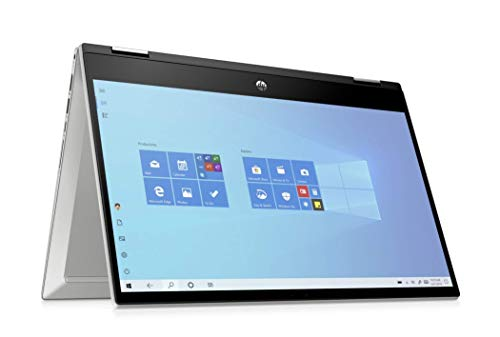 HP Pavilion x360 14- dw0023na14-Inch Full HD Touch Screen Convertible Laptop, Intel Core i7- 1065G7, 16GB RAM, 512 GB SSD, Windows 10 Home - Silver