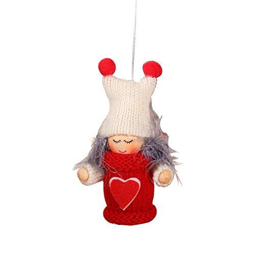 lingzhuo-shop Kerstversiering Innovatief houtgaren leeftijd jongen meisjes kleine pop kerstboom overdracht