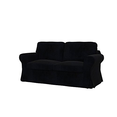 Soferia - Bezug fur IKEA EKTORP 2er-Sofa, Eco Leather Black