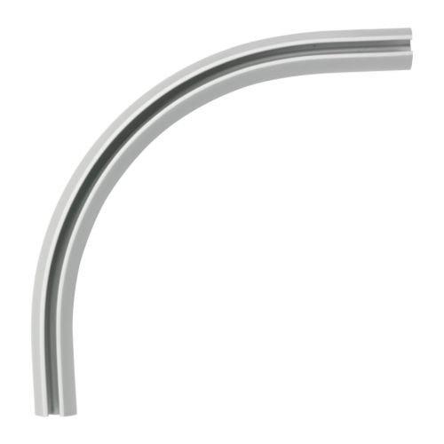 Ikea KVARTAL Eckverbindung für einläufige Gardinenschiene; in aluminiumfarben