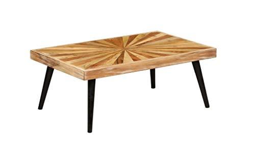 Mesa baja minimalista de madera maciza, mesa auxiliar decorativa rústica para salón, oficina, dormitorio, hotel, 90 x 55 x 36 cm