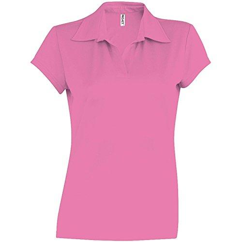 Kariban Proact Damen Performance Polo-Shirt, Kurzarm (S) (Fuchsia)