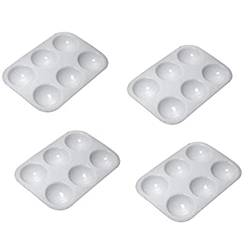 4 Pcs Paint Tray Palettes for Kids Painting Small Size