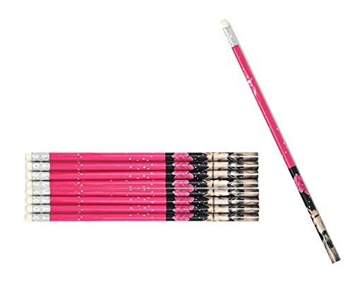 I love horses -Pferd - 8 Bleistifte mit Radiergummi - tolle Geschenkidee für Kinder AA