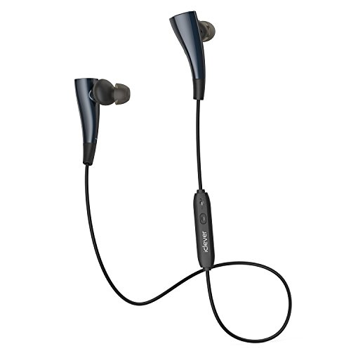 iClever Bluetooth Headphones Sport - Workout Headphones Splash Proof, Intelligent Magnetic, Up to 7 Hours Playtime - Running Headphones, Stereo Sound, AptX Technology, Noise Cancelling, Black