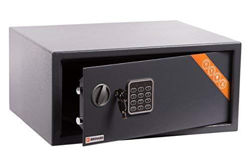 Brihard Laptop Tresor Safe mit Elektronischem Schloss, 20x42x35cm (HxWxD), Titan Grau