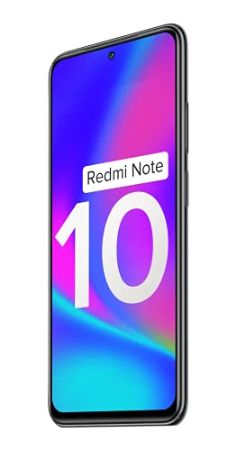 Redmi Note 10 (Shadow Black, 4GB RAM, 64GB Storage) - Amoled Dot Display | 48MP Sony Sensor IMX582 | Snapdragon 678 Processor 6