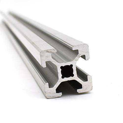 Perfil de aluminio para construcción (ranura 6, 1 unidad, 20 x 20, corte de 1400 mm)