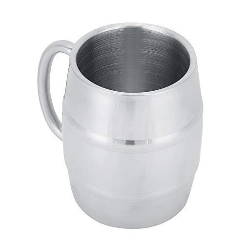 Taza, vaso de beber del vino de la taza de la cerveza del café de la taza de la capa doble del acero inoxidable del hogar(420ml)