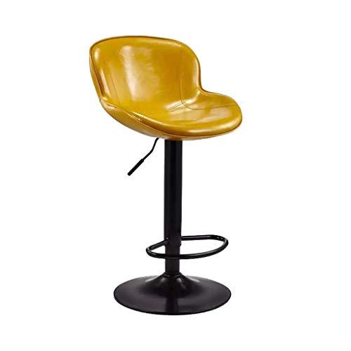 Barkruk Hoge kruk Barkruk Draaien Hefkruk Barkruk met rugleuning Bureaustoel Vrije stoel Eetkamerstoel (Color : Yellow)