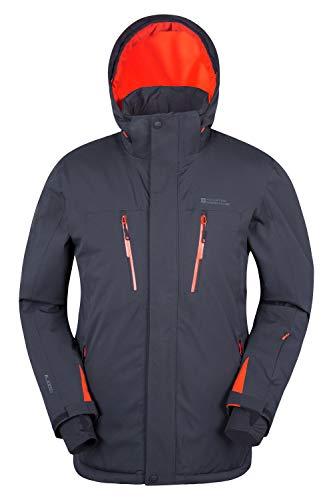 Mountain Warehouse Galactic Mens Waterproof Ski Jacket - Winter Coat Dark Grey Small