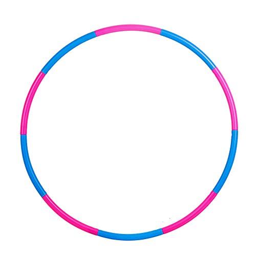 NJZY Adult Hula Hoop, weicher Hula Hoop, der Nicht herunterfällt, abnehmbare Fitnessgeräte,Blue-100cm