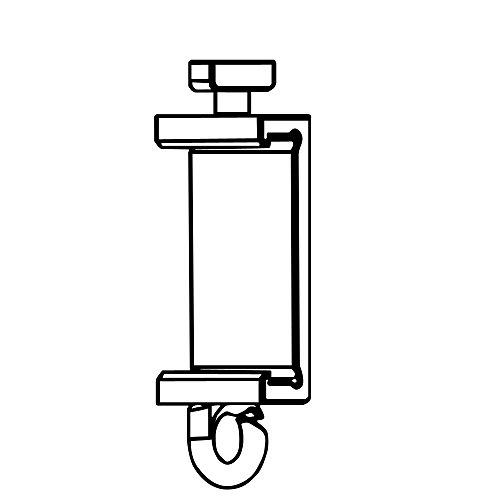 Clips Für Premium Paneelwagen mit den Maßen 25x2,5mm | Farbe weiß | zum Aufklipsen auf das Paneelwagenprofil (je Paar) (T-Gleiter 4-6mm)