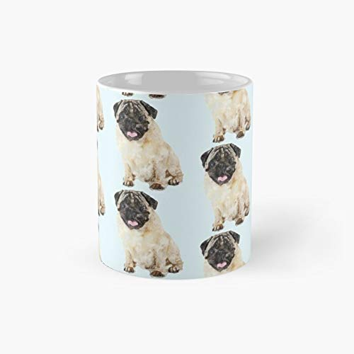Mischievous Pug Classic Mug - Unique Gift Ideas For Her From Daughter Or Son Cool Novelty Cups 11 Oz.