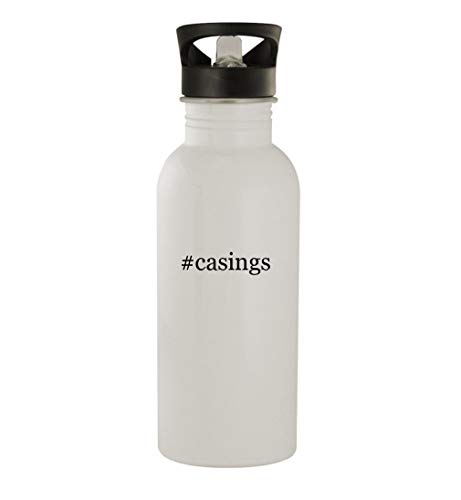 #casings - 20oz Stainless Steel Water Bottle, White