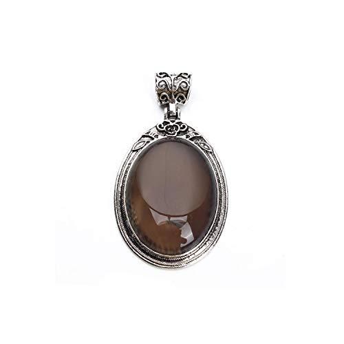 38 x 67 mm ovaler Lapislazuli Stein Naturstein Zinklegierung Anhänger für Damen Herren Halsketten DIY Handwerk Schmuck finden F3653GY00