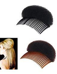 2Pcs Schwamm Bump It Up Volumen Haar Base Anreden Einsatz Haar Styling Werkzeug Haar Accessoires mit Kämm,1Black + 1Braun