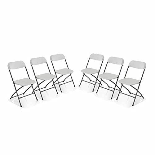 Alices Garden Chaises de réception Pliantes – Fiesta – 6 chaises dappoint en Plastique et métal