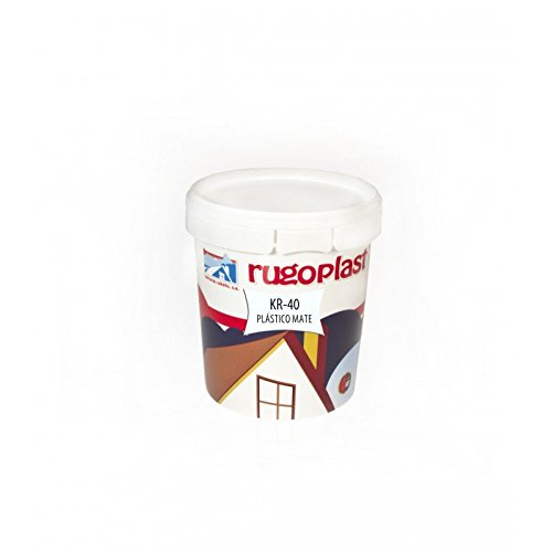 Pintura plástica blanca mate lavable de alta calidad interior/exterior ideal para decorar tu casa (salón, cocina, baño, dormitorios.) KR-40 (0,750 L) Envío GRATIS 24 h.