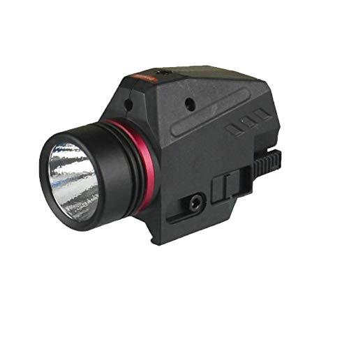 GOTICAL Combo Rail Mounted Red Laser Sight for Pistols | 200 Lumens | Rifles | Rechargeable Dot Gun Light | LED Flashlight Glock 17 19 20 21 22 23 30 20mm Rail