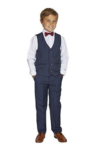 V.C. Kinderanzug Jungen Kommunion Hochzeit Anzug 4tlg. blau 134