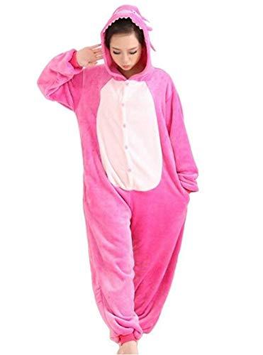 Pyjama Cosplay Karnevals Kostüme für Erwachsene Halloween Fest Party Tier Onesie Body Nachtwäsche Kleid Overall Animal Sleepwear Erwachsene Kigurumi Zoo Cosplay, Column, Pink Medium