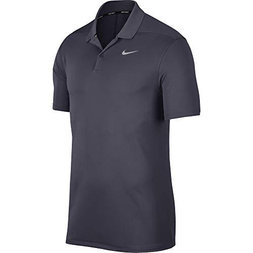 Nike Dry Victory Playera de Golf Tipo Polo, para Hombre, Gridiron/Flight Silver, Large