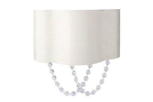 Massive 332483810 intérieur E27 15 W blanc éclairage de mur Lampe (brossé, chambre, salon, intérieur, blanc, tissu, verre, Metal, synthétiques, IP20)