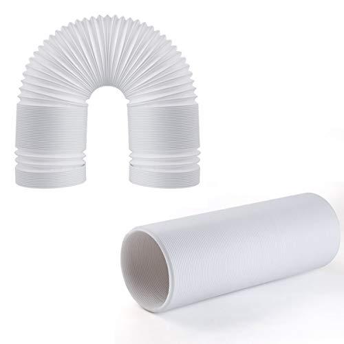 JOYOOO 1.5M Länge PVC Abluftschlauch Luftschlauch flexibel für mobile Klimageräte /Clockwise twisting direction counterclockwise installation direction (Ø 13cm)