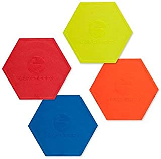 BB Fitness Performance Agility Markers - Speed and Coordination Markers for Sports Training, Home Workouts, More - Pack of 4 Color Coded Spot Markers